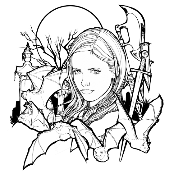 Buffy the vampire slayer coloring pages best coloring pages for Buffy coloring pages