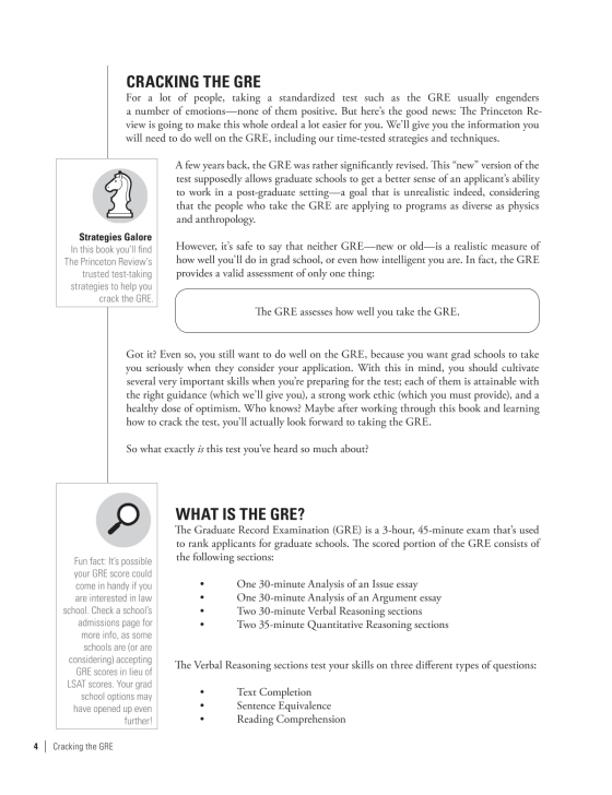 Cracking The Gre Premium Edition With  Practice Tests   The  Sample Page Sample Page