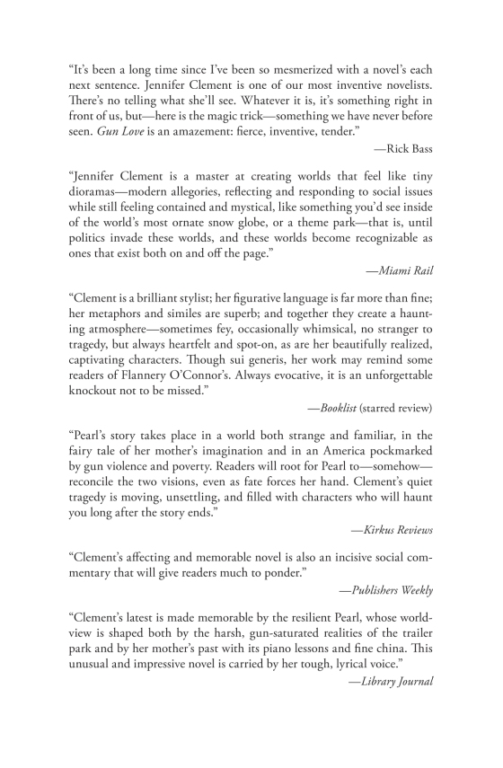 Jennifer Clement - Gun Love - Trade Paperback