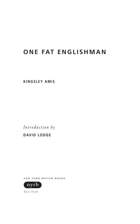 kingsley amis one fat englishman