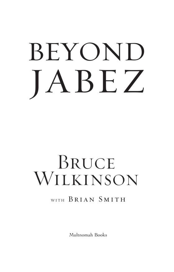 Beyond Jabez | Penguin Random House International Sales