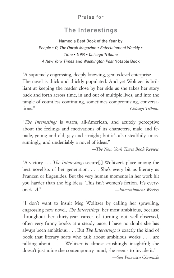 Meg wolitzer the interestings trade paperback page 1 of 17 fandeluxe Image collections