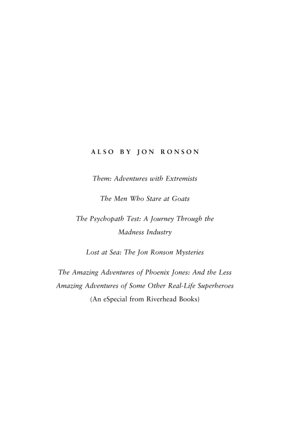 them adventures with extremists ronson jon