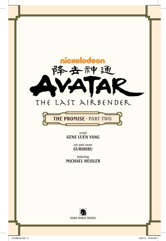 Avatar The Last Airbender The Promise Part 2 Penguin Random