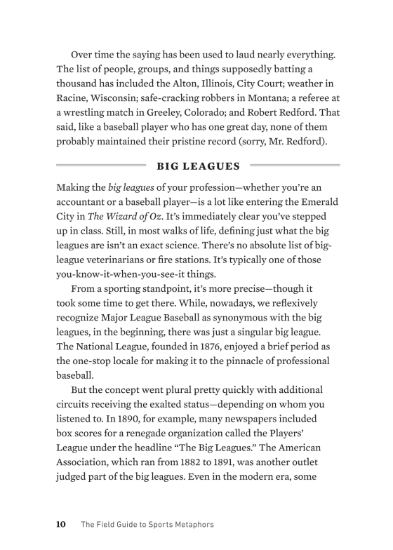 The Field Guide to Sports Metaphors - Penguin Random House Retail