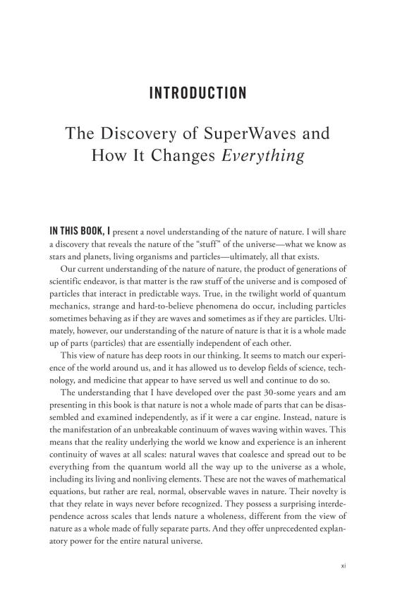 the nature of nature the discovery of superwaves and how it changes everything